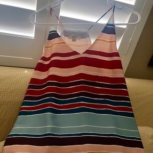 LOFT X-small striped multi-colored Strappy cami